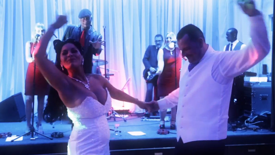 Slider: April and John dance